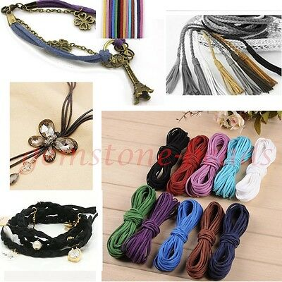 2mm Suede Leather Cord For Jewelry Making DIY Craft Thread Beading String