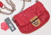 Apt 9 Metallic Red Envelope Christmas Baguette Clutch Chain Shoulder Handbag