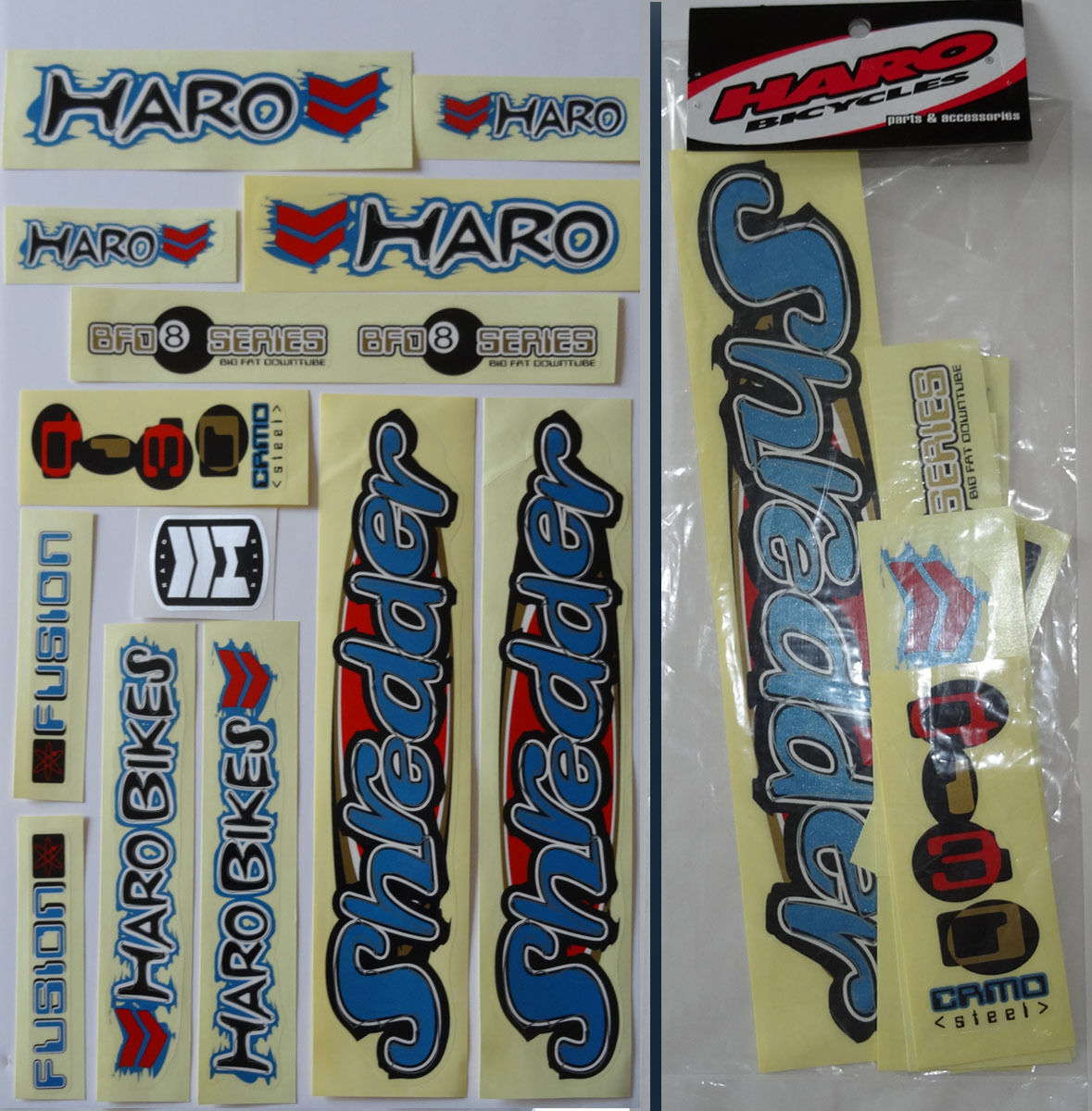 HARO SHrotDER BMX Sticker Set - '90s Old School Freestyle B.M.X. Decal Set - NOS