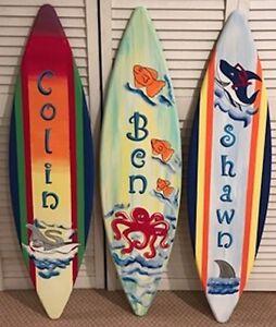5ft WOODEN CHALK BOARD SURF BOARD SURFBOARD PROP REPLICA DECORATION MENU SIGN