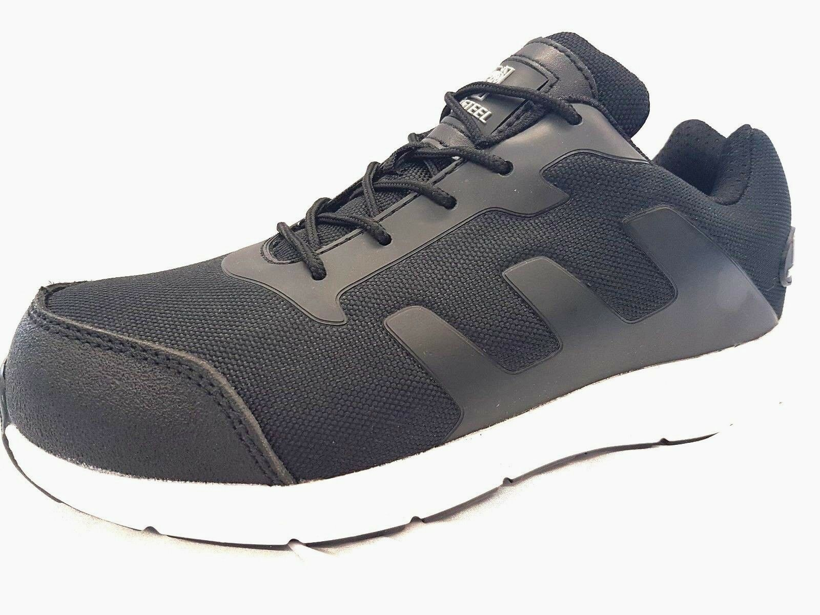 MENS NEW Canvas mesh lightweight STEEL TOE CAP SAFETY TRAINER SHOES WORK SIZE 10