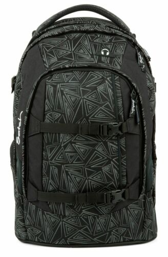 satch Pack Schulranzen Rucksack Schulrucksack Tasche Ninja Bermuda Schwarz Grau