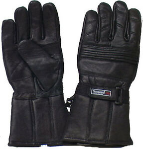 Genuine-Leather-Lambskin-Bikers-039-Driving-Snowmobile-All-Purpose-Gloves-2155NV