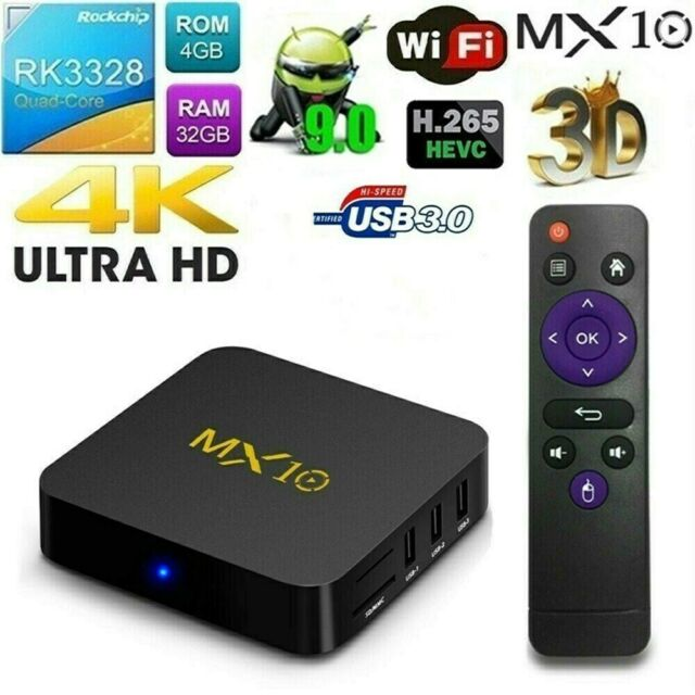 V88 Smart TV BOX Android 7.1 RK322 Quad Core 8GB WIFI HD 1080P H.265 DLNA Player
