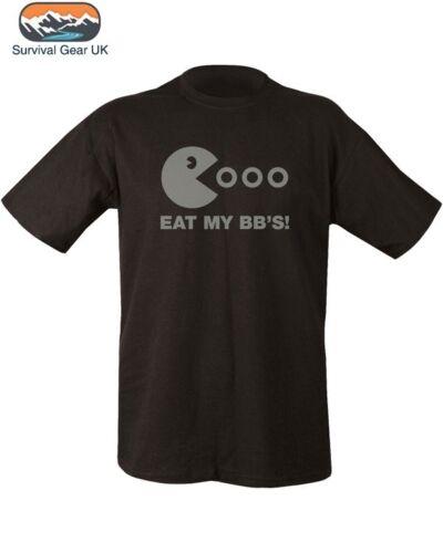 Manger mon BB /'s T-shirt 100/% Coton Noir pour homme S-2XL airsoft paintball tir