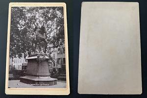 France-Nancy-statue-de-Jeanne-d-039-Arc-par-Fremiet-Vintage-print-carte-cabi