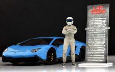 The white dirty STIG (2) Figure for 1:18 GT-Spirit Porsche RWB Top Gear  RAR!