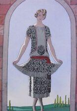 George Barbier Me voici !  Gazette Bon Ton 1924/25 pl. 3 robe de Worth