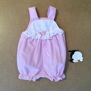 Vintage Baby Bubble Romper with Sailboats and Lace 06mo
