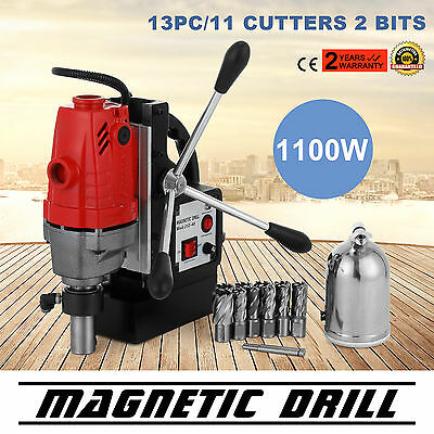 MD40 Magnetic Drill Press with 13PC Annular Cutter Kit 2700 LBS Magnet Force