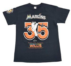 Florida-Marlins-Dontrelle-Willis-D-Train-Tee-Black-Size-M-Mens-T-Shirt