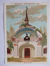 """Chromo """"Maison de la belle jardinière - Exposition universelle de 1878 - Suisse"""""""