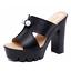 Womens-Peep-Toe-High-Chunky-Heels-Platform-Slipper-Summer-Sandals-Mules-Shoes-GS miniatura 10