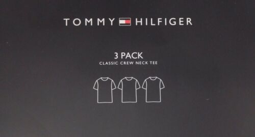 3 TOMMY HILFIGER MENS COTTON WHITE CREW NECK S M L XL XXL T-SHIRTS UNDERSHIRTS