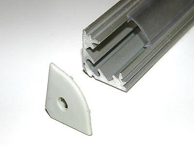 Glorioso Led Profilo In Alluminio Anodizzato Finitura Argento Trasparente Cover Due Calotte 0,5 M-mostra Il Titolo Originale Una Grande Varietà Di Modelli