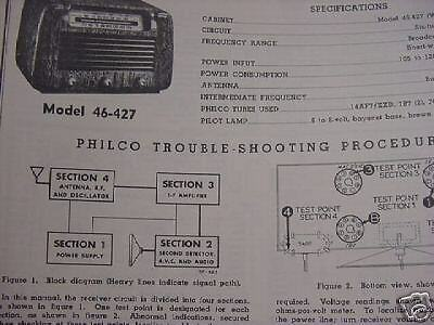 Large Collection of 1919 to 1953 PHILCO Radio SERVICE MANUAL