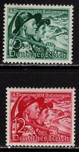 THIRD-REICH-1938-mint-MNH-Sudetenland-Annexation-stamp-set-CV-48-00