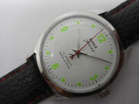 hmt jawan military hand winding mens steel white dial watch run order,,