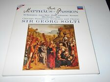 BACH: Matthaus-Passion Sir Georg Solti 3 LP Box w/Booklet LONDON Digital EX/EX!