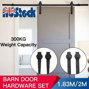 1-83M-2M-Sliding-Barn-Door-Hardware-Kit-Roller-Slide-Track-Set-Interior-Bedroom