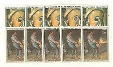 YVERT N° 1662 ET 73 x 5 TABLEAUX G. ROUAULT P. MILLET TIMBRES FRANCE NEUFS**