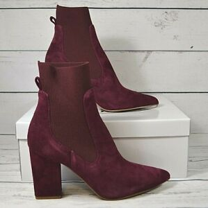 NIB-STEVE-MADDEN-RICHTER-BURGHANDY-SUEDE-ANKLE-BOOTIES-BOOTS-SHOES-SZ-6-10