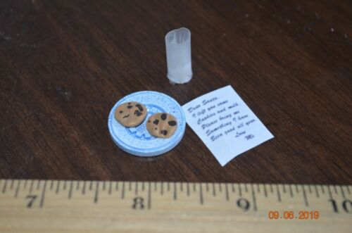 Dollhouse Christmas milk chocolate chip  cookies and santa letter