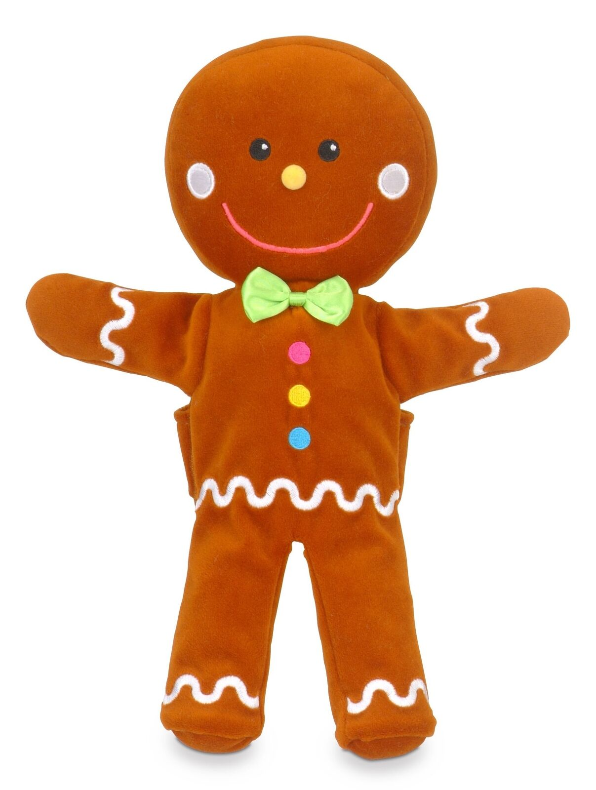 Fiesta Crafts Crafts Crafts Gingerbread Man Hand and Finger Puppet Set 2c6252