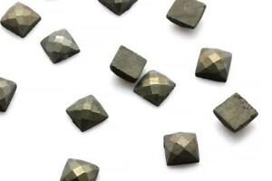 Natural-Pyrite-Gemstone-Square-Faceted-Loose-Cabochon-Jewelry-Making-Wholeslae