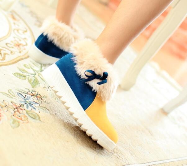 stivali stivaletti scarpe donna tacco 5 cm giallo simil pelle  comode 8174