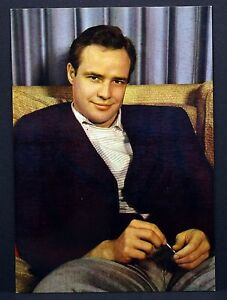 Marlon-Brando-Actor-Movie-Photo-Film-Autogramm-Karte-AK-Lot-G-8449