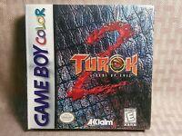 Turok 2 Seeds Of Evil Gbc Game Boy Color Gbc Sealed