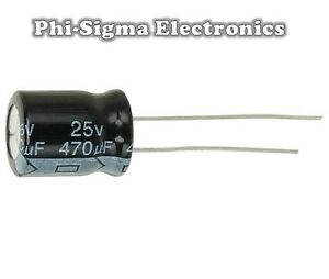 Electrolytic-Capacitors-Packs-of-10-Various-Values-Voltages