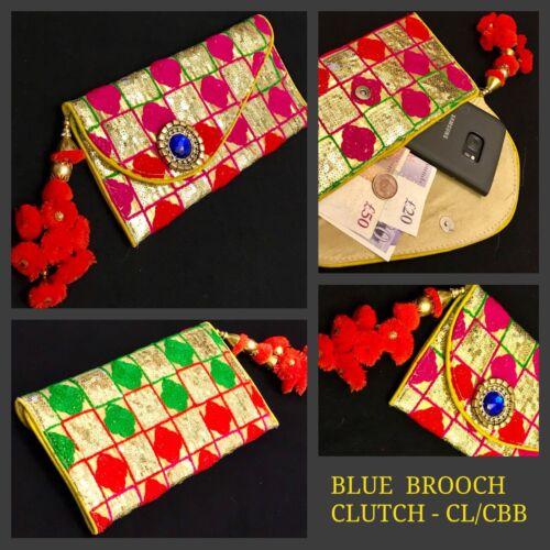 Bollywood Style Gold Clutch Bag Indian Bridal Wedding Sequin Envelope Clutch Bag