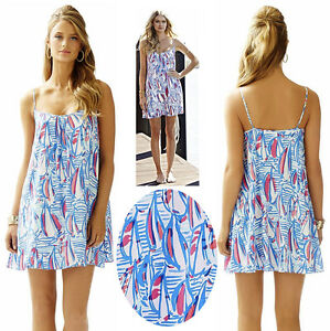 fb2cc80734597c NWT Lilly Pulitzer Daphne Red Right Return Sailboat Nautical Trapeze ...