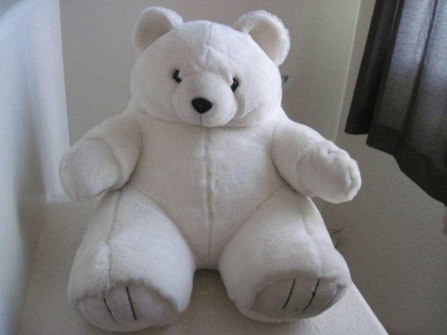 RARE GIANT Plush 17 H x 20 W Circus Circus bianca Polar Bear Plush Stuffed Animal