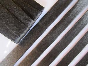 10-Meter-SCHRAGBAND-Schwarz-Satin-Borte-1-5cm-Spitze-Elegante-BA-025