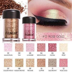 DIAMANTE-Palette-Ombretto-Pigmento-IMPERMEABILE-scintillante-Glitter-polvere