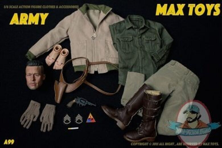 1 6 Scale MAX TOYS ARMY Action Figure Clothes & Accessories A99