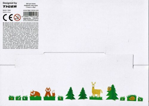 FOLDED PAPER ANIMALS ~ 10 Designs ~ by TIGER ***NEW***