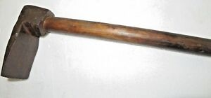 Antique ADZE Woodworking Carpentry tool early sharp edge Axe wood Handle India-2