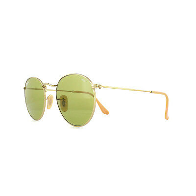 43c436a61 Ray-Ban Sunglasses Round Metal 3447 90644C Gold Green Photochromic ...