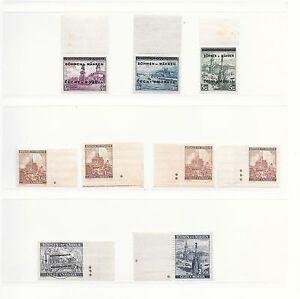 Böhmen&Mähren stamps 1939 MI 17LS-19LS and other stamps CAT VALUE $475