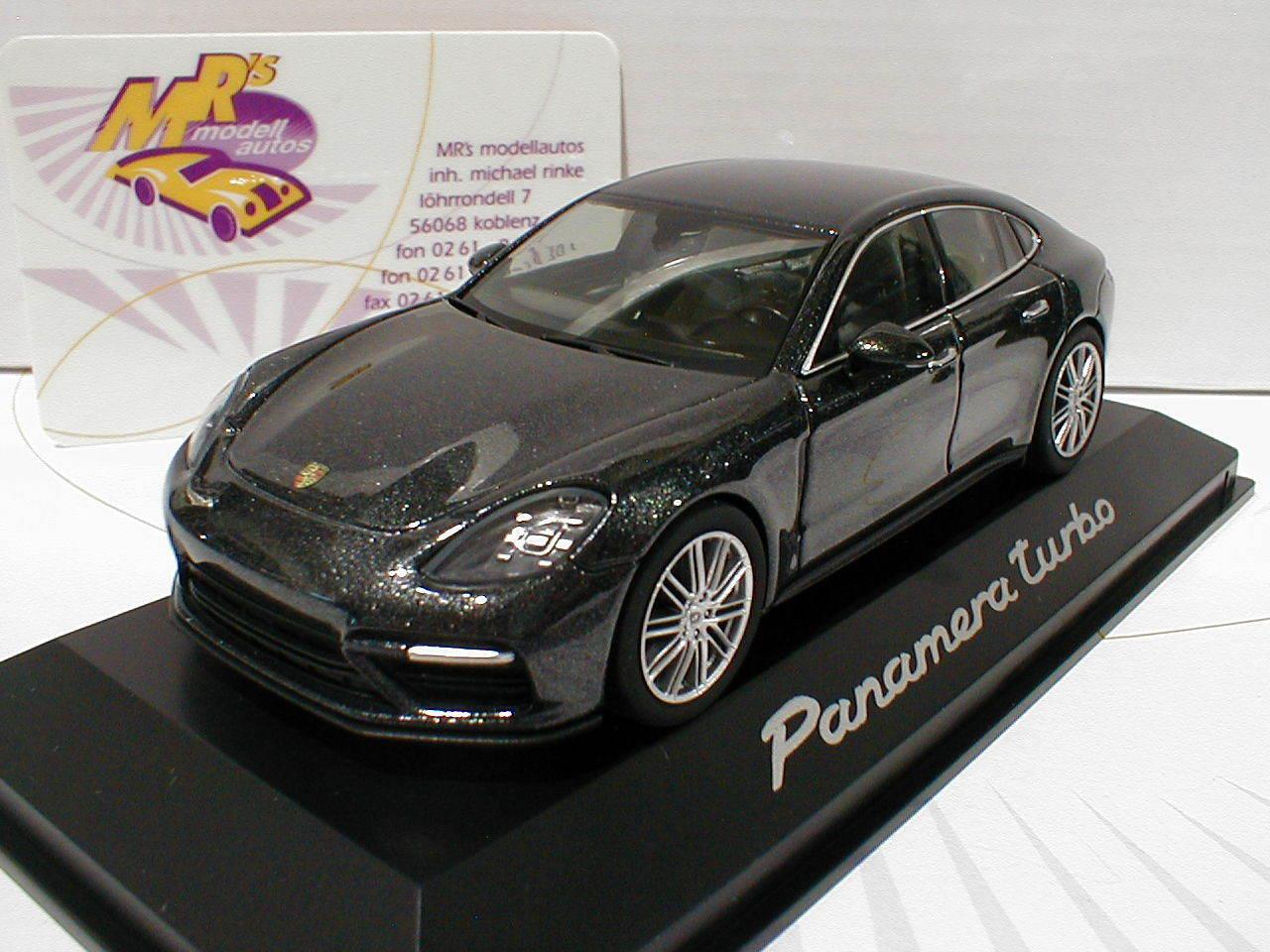 Herpa wap0207470g   Porsche Panamera Turbo 2.gen. year 2016 grau-Met. 1 43