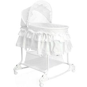 Babywiege-Stubenwagen-Schaukel-Baby-Stuben-Bettchen-Bett-Beistellbett-Kinder
