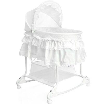 Bettchen Beistellbett Kinder Baby Stuben Bett Stubenwagen Babywiege Schaukel DHL