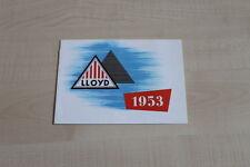 159304) Lloyd LP 400 S LS LT 500 - reprint - Prospekt 1990