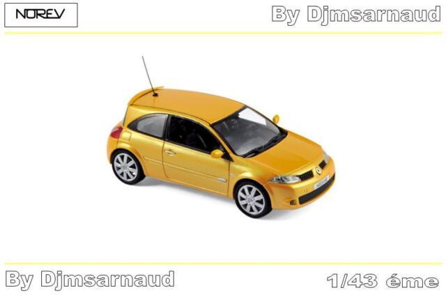 Renault Mégane RS de 2004 Yellow Sirius NOREV - NO 517635 - Echelle 1/43