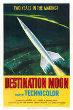 1961 NUDE ON THE MOON VINTAGE SCI-FI MOVIE POSTER PRINT STYLE B 24x16 9MIL PAPER