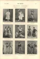 1895 Navidad Disfraz elaborado Dorothy Ogden Dora poco Croftons
